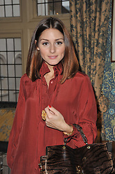 OLIVIA PALERMO at a screening of Charlotte Olympia's new film 'To Die For' held at Mark's Club, Charles Street, London W1 on 22nd February 2011.