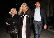 03.APRIL.2013. LONDON<br /> <br /> GEMMA COLLINS ALONG WITH MUM JOAN AND BOYFRIEND RAMI ARRIVING AT THE TOWIE WRAP PARTY AT NO.5 CAVENDISH CLUB IN MAYFAIR.<br /> <br /> BYLINE: EDBIMAGEARCHIVE.CO.UK<br /> <br /> *THIS IMAGE IS STRICTLY FOR UK NEWSPAPERS AND MAGAZINES ONLY*<br /> *FOR WORLD WIDE SALES AND WEB USE PLEASE CONTACT EDBIMAGEARCHIVE - 0208 954 5968*