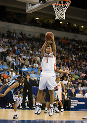 Virginia forward Lyndra Littles (1) shoots an open layup against ODU.  The #11 ranked / #5 seed Old Dominion Lady Monarchs defeated the #24 ranked / #4 seed Virginia Cavaliers 88-85 in overtime in the second round of the 2008 NCAA Women's Basketball Championship at the Ted Constant Convocation Center in Norfolk, VA on March 25, 2008.