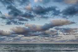 dramatic cloud formations over the ocean in Florida at sunset