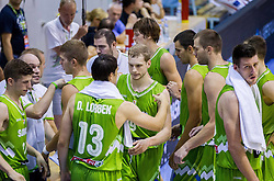 Players of Slovenia during friendly basketball match between National teams of Slovenia and Georgia in day 2 of Adecco Cup 2014, on July 25, 2014 in Dvorana OS 1, Murska Sobota, Slovenia. Photo by Vid Ponikvar / Sportida.com