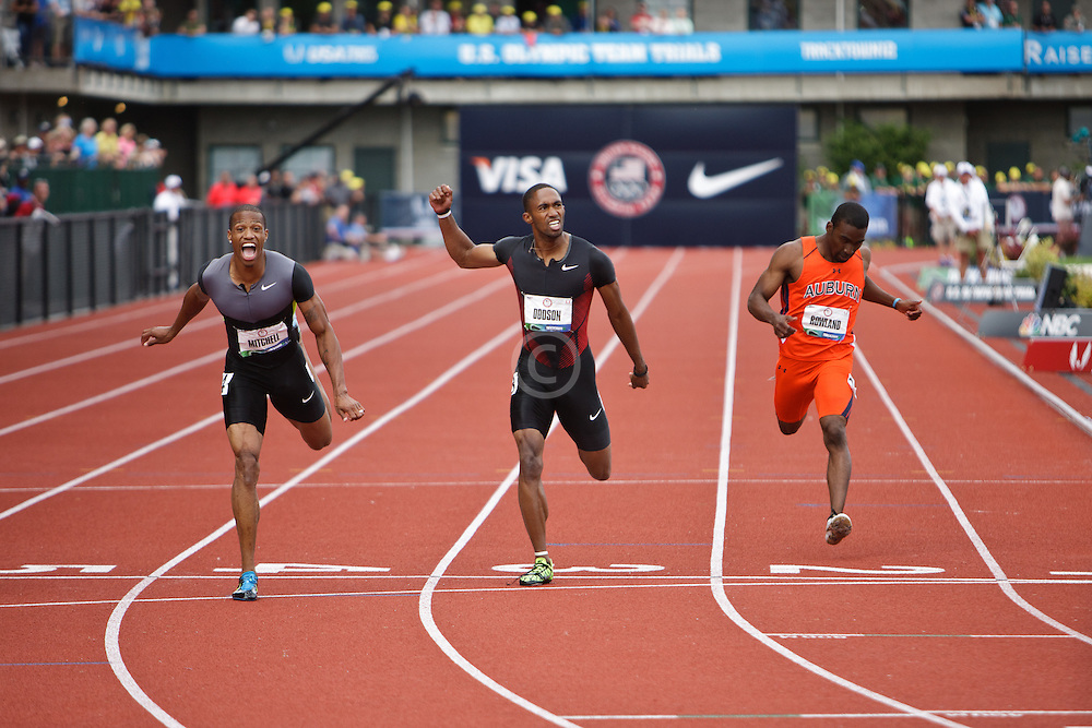 Olympic Trials Eugene 2012: men's 200 meters, Mitchell, Dodson, Rowland