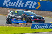 Finlay Robinson (GBR) of Westbourne Motorsport enters the hairpin during Round 14 of the 2019 Renault UK Clio Cup at Knockhill Racing Circuit, Dunfermline, Scotland on 15 September 2019.