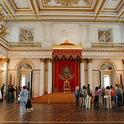 One of several ballroom at the Hermitage Museum also known as the Winter Palace,  was the main residence of the Russian Tsars located on the banks of the Neva River, in St. Petersburg.   Photography by Jose More