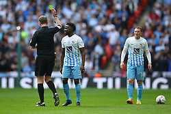 Gael Bigirimana of Coventry City receives a yellow card - Photo mandatory by-line: Jason Brown/JMP -  02/04//2017 - SPORT - Football - London - Wembley Stadium - Coventry City v Oxford United - Checkatrade Trophy Final