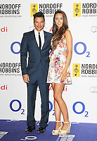 Peter Andre; Emily MacDonagh, Nordoff Robbins O² Silver Clef Awards, London Hilton Park Lane, London UK, 28 June 2013, (Photo by Richard Goldschmidt)