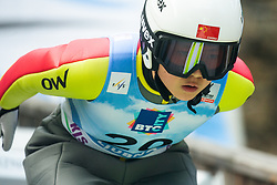 ZHOU Fangyu (CHN) during practice round on Day 1 of FIS Ski Jumping World Cup Ladies Ljubno 2020, on February 22th, 2020 in Ljubno ob Savinji, Ljubno ob Savinji, Slovenia. Photo by Matic Ritonja / Sportida