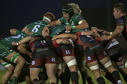 November 3, 2018 - Galway, Ireland - Ultan Dillane of Connacht in action during the Guinness PRO14 match between Connacht Rugby and Dragons at the Sportsground in Galway, Ireland on November 3, 2018  (Credit Image: © Andrew Surma/NurPhoto via ZUMA Press)