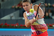 Simona Halep during the Madrid Open at Manzanares Park Tennis Centre, Madrid<br /> Picture by EXPA Pictures/Focus Images Ltd 07814482222<br /> 07/05/2016<br /> ***UK & IRELAND ONLY***<br /> EXPA-ESP-160507-0018.jpg