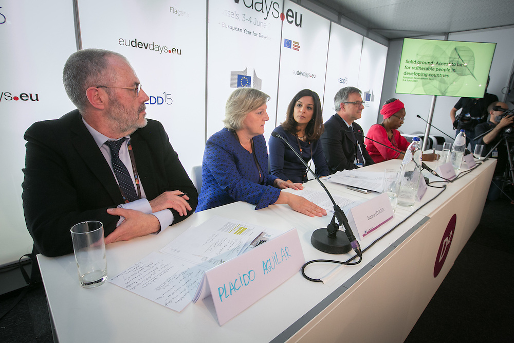 04 June 2015 - Belgium - Brussels - European Development Days - EDD - Urban - Solid ground - Access to land for vulnerable people in developing countries © European Union
