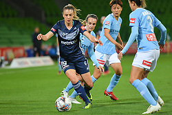 November 16, 2018 - Melbourne, Victoria, Australia - LIA PRIVITELLI (19) of Melbourne Victory controls the ball in round 3 of the W-League competition between Melbourne City and Melbourne Victory during the 2018 season at AAMI Park, Melbourne, Australia. The Westfield W-League is Australia's national women's semi-professional soccer league. Melbourne Victory won 2-0. (Credit Image: © Sydney Low/ZUMA Wire)