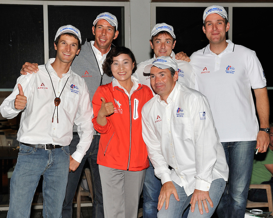 Ann Hae Young with Mathieu Richard and his crew at the opening dinner. Photo:Chris Davies/WMRT