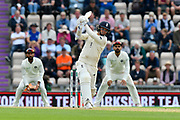 Sam Curran of England goes on the attack during the first day of the 4th SpecSavers International Test Match 2018 match between England and India at the Ageas Bowl, Southampton, United Kingdom on 30 August 2018.