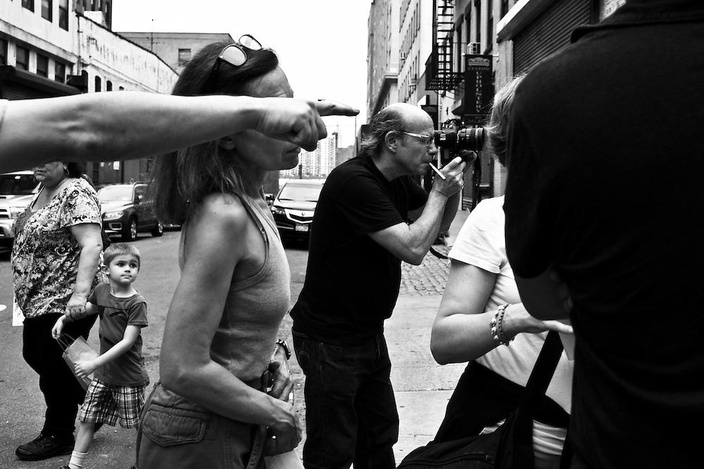 Tournage de la campagne Longchamp, New York