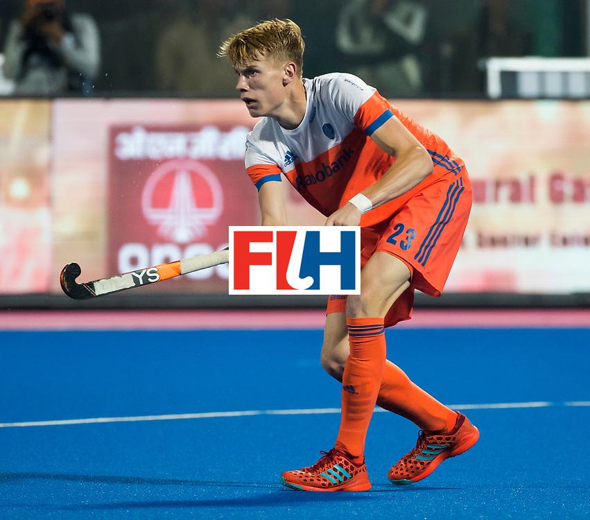 BHUBANESWAR - Joep de Mol (Ned) tijdens de Hockey World League Finals , de kwartfinale wedstrijd Duitsland-Nederland (3-3).Duitsland wint na shoot-outs.    COPYRIGHT KOEN SUYK