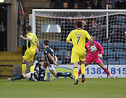 St Mirren's Kenny McLean opens the scoring  - Dundee v St Mirren, SPFL Premiership at <br /> Dens Park<br /> <br />  - &copy; David Young - www.davidyoungphoto.co.uk - email: davidyoungphoto@gmail.com