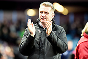 Aston Villa manager Dean Smith during the EFL Sky Bet Championship match between Aston Villa and Nottingham Forest at Villa Park, Birmingham, England on 28 November 2018.