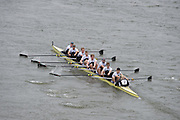 London, Great Britain.<br /> Molesey I coming in the<br /> 2016 Head of the River Race, Reverse Championship Course Mortlake to Putney. River Thames. Saturday  19/03/2016<br /> <br /> [Mandatory Credit: Peter SPURRIER;Intersport images]