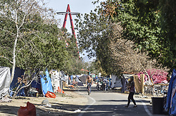 January 29, 2018 - Anaheim, California, USA - Homeless encampment along the Santa Ana River in Anaheim on Monday, Jan 29, 2018. (Credit Image: © Jeff Gritchen/The Orange County Register via ZUMA Wire)