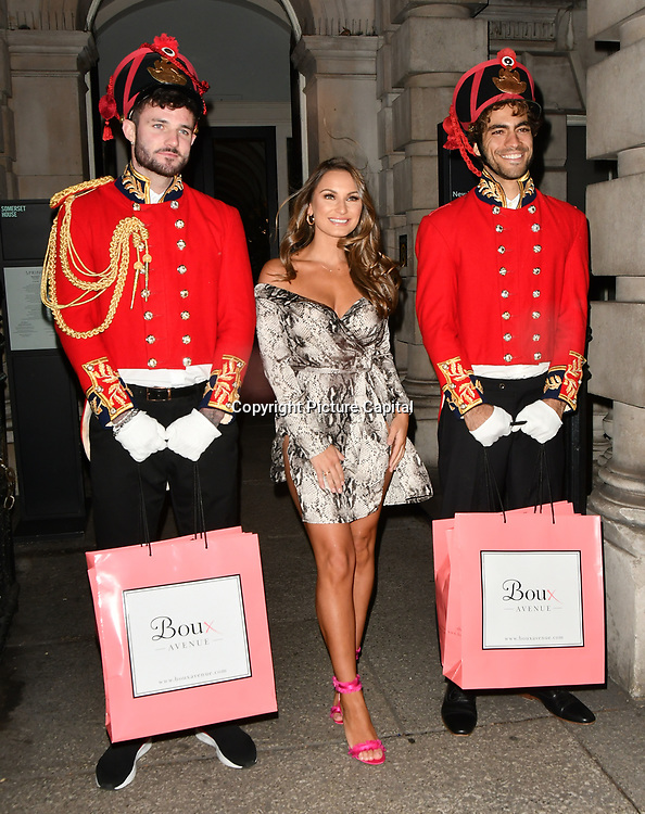 SAMANTHA FAIERS ARRIVERS BOUX AVENUE XMAS CAMPAIGN LAUNCH EVENT at SOMERSET HOUSE, on 9 November 2018, London, UK.