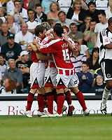 Photo: Steve Bond/Richard Lane Photography. Derby County v Sheffield United. Coca-Cola Championship. 13/09/2008. Darius Henderson (obscured) celebrates