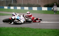 JIM MOODIE OXFORD  DUCATI CRASHES , WSB World Superbike Championship Donington Park 3rd October  1993