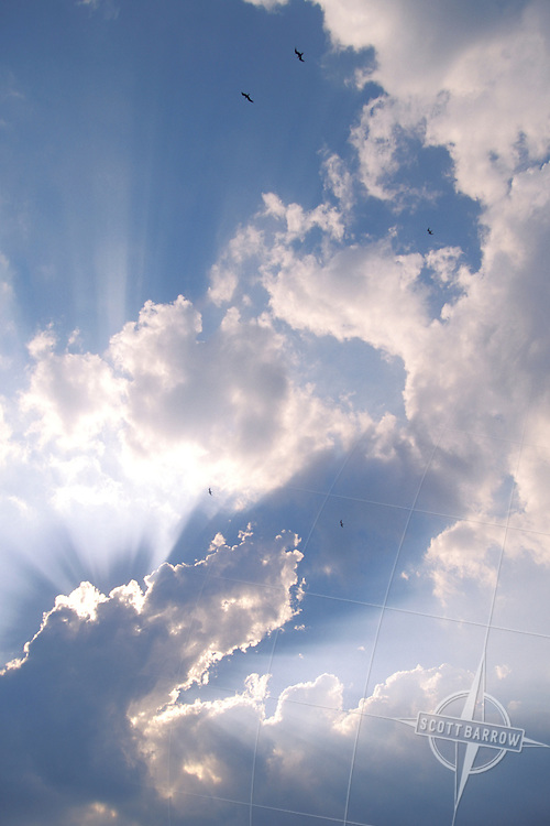 Sunlight through Cumulonimbus Clouds