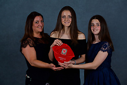 NEWPORT, WALES - Saturday, May 19, 2018: Josie Smith and family during the Football Association of Wales Under-16's Caps Presentation at the Celtic Manor Resort. (Pic by David Rawcliffe/Propaganda)