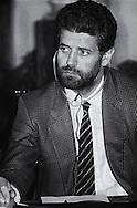 Roma  2 Luglio 1986.Convegno: Dialogo come fondamento universale della pace. Campidoglio.Roberto Formigoni