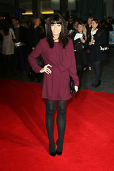 © Licensed to London News Pictures. 17/10/2013, UK. Claudia Winkleman, One Chance -  European film premiere, Odeon Leicester Square, London UK, 17 October 2013. Photo credit : Richard Goldschmidt/Piqtured/LNP
