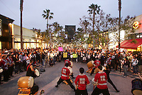 June 03, 2009; Santa Monica, CA - Yukari Taiko performs at a candlelight vigil at Third Street Promenade for Euna Lee and Laura Ling, two American journalists who have been detained in North Korea for nearly three months...Photo Credit: Darrell Miho
