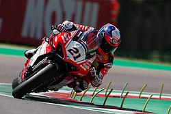 May 10, 2019 - Imola, BO, Italy - Randy Krummenacher of BARDAHL Evan Bros. WorldSSP Team during the free practice 2 of the Motul FIM Superbike Championship, Italian Round, at International Circuit ''Enzo and Dino Ferrari'', on May 10, 2019 in Imola, Italy  (Credit Image: © Danilo Di Giovanni/NurPhoto via ZUMA Press)