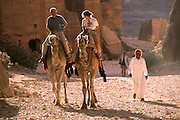 Camel riding in Petra