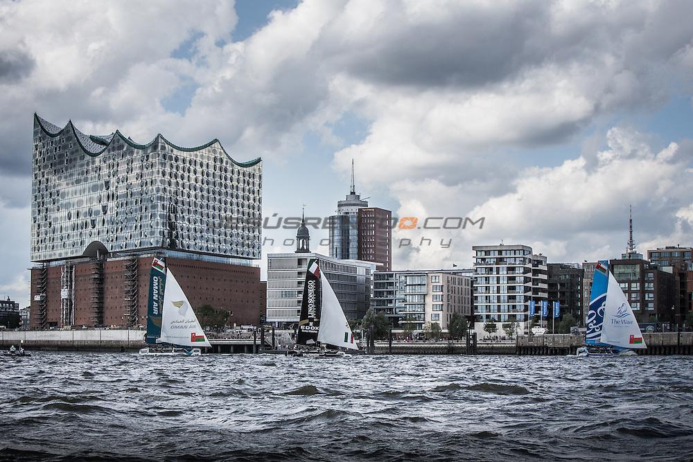2015 Extreme Sailing Series - Act 5 - Hamburg<br /> ESS Fleet<br /> Credit Jesus Renedo