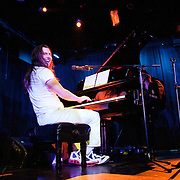 January 8, 2012 - Manhattan, NY : Andrew W.K. (piano, vocals) performs with the Calder Quartet (not pictured) at Le Poisson Rouge in Manhattan on Sunday evening.  CREDIT: Karsten Moran for The New York Times