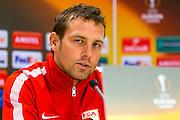 ALKMAAR - 21-10-2015, Persconferentie AZ - FC Augsburg, AFAS Stadion, FC Augsburg trainer Markus Weinzierl.