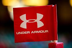 Under Armour branding during the session - Photo mandatory by-line: Ryan Hiscott/JMP - 29/10/2018 - RUGBY - Principality Stadium - Cardiff, Wales - Autumn Series - Wales Rugby Open Training Session