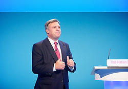 Labour Party Conference.<br /> Shadow Chancellor Ed Balls speech during the Labour Annual Conference at the Brighton Conference Centre, Brighton, United Kingdom. Monday, 23rd September 2013. Picture by Elliot Franks / i-Images