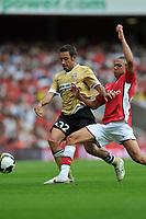 Photo: Tony Oudot/Richard Lane Photography. Arsenal v Juventus. Emirates Cup. 02/08/2008. <br /> Kieran Gibbs of Arsenal with Marco Marchionni of Juventus