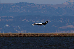 Cessna 525B CitationJet CJ3 (N96PB) landing at San Francisco International Airport (KSFO), San Francisco, California, United States of America