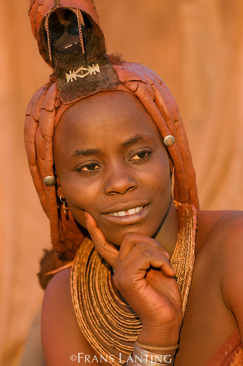 Himba woman, Puros Conservancy, Damaraland, Namibia