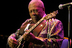 BB King and Lucille play the opening night of his European Farewell Tour at the Hallam FM Arena Sheffield<br /> <br /> 29 March 2006<br /> <br /> Image &copy; Paul David Drabble <br /> www.pauldaviddrabble.co.uk