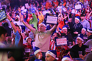 Dart fans during the William Hill PDC World Darts Championship at Alexandra Palace, London, United Kingdom on 18 December 2017. Photo by Shane Healey.