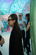 MAUREEN PALEY; MICHAEL LANDY; GILLIAN WEARINGSerpentine's Summer party co-hosted with Christopher Kane. 15th Serpentine Pavilion designed by Spanish architects Selgascano. Kensington Gardens. London. 2 July 2015.