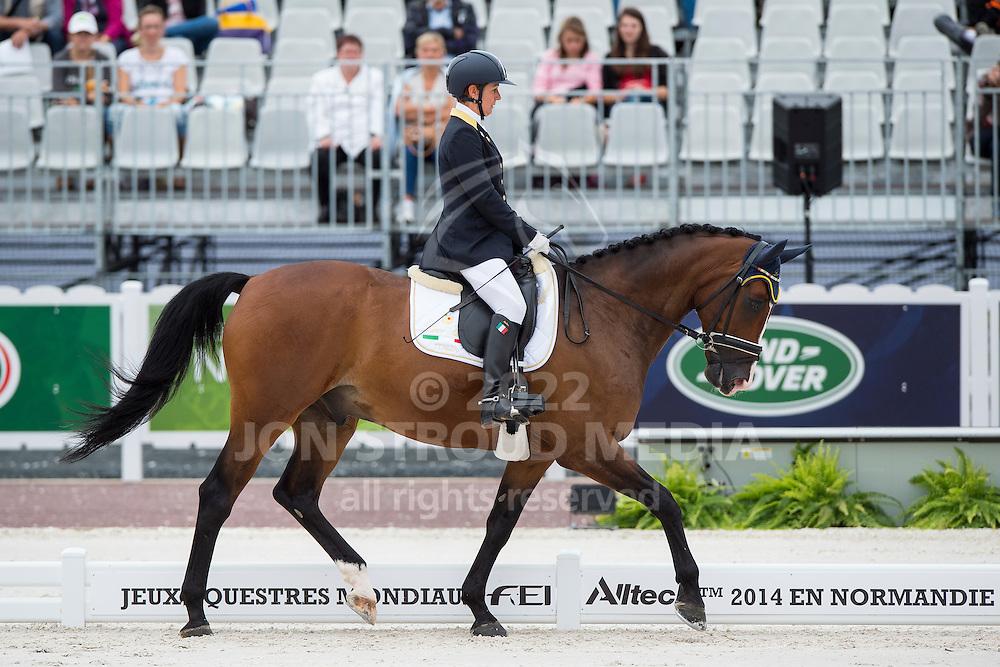 Antonella Cecilia, (ITA), Ubacho - Individual Test Grade Ib Para Dressage - Alltech FEI World Equestrian Games&trade; 2014 - Normandy, France.<br /> &copy; Hippo Foto Team - Jon Stroud <br /> 25/06/14