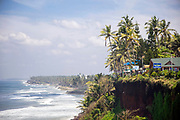 VARKALA, INDIA - 28th September 2019 - Varkala Cliff Beach flora, Kerala, Southern India