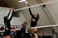 Preslee Jensen. Vale Nampa Christian volleyball, September 22, 2015, Vale High School, Vale, Oregon.