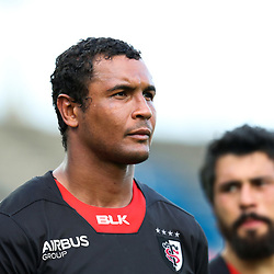 Thierry Dusautoir of Toulouse looks dejected at the end of the match during the Top 14 match between Stade Toulousain and Racing 92 on April 16, 2017 in Toulouse, France. (Photo by Manuel Blondeau/Icon Sport)