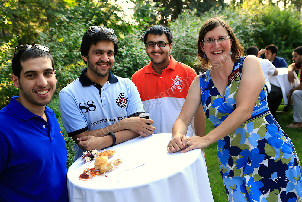 International Affairs invited members of the campus community to attend a reception for new international students. The reception was in the Fabiano Gardens and welcomed our new English Language Institute, undergraduate and graduate international students to the campus.  Photo by Steve Jessmore/Central Michigan University