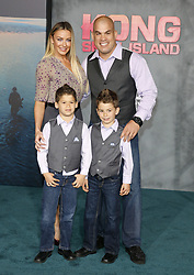 Tito Ortiz and Amber Nichole at the Los Angeles premiere of 'Kong: Skull Island' held at the El Capitan Theatre in Hollywood, USA on March 8, 2017.